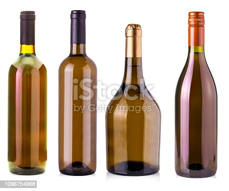 istock The  bottles of wine  isolated on white 1096754968