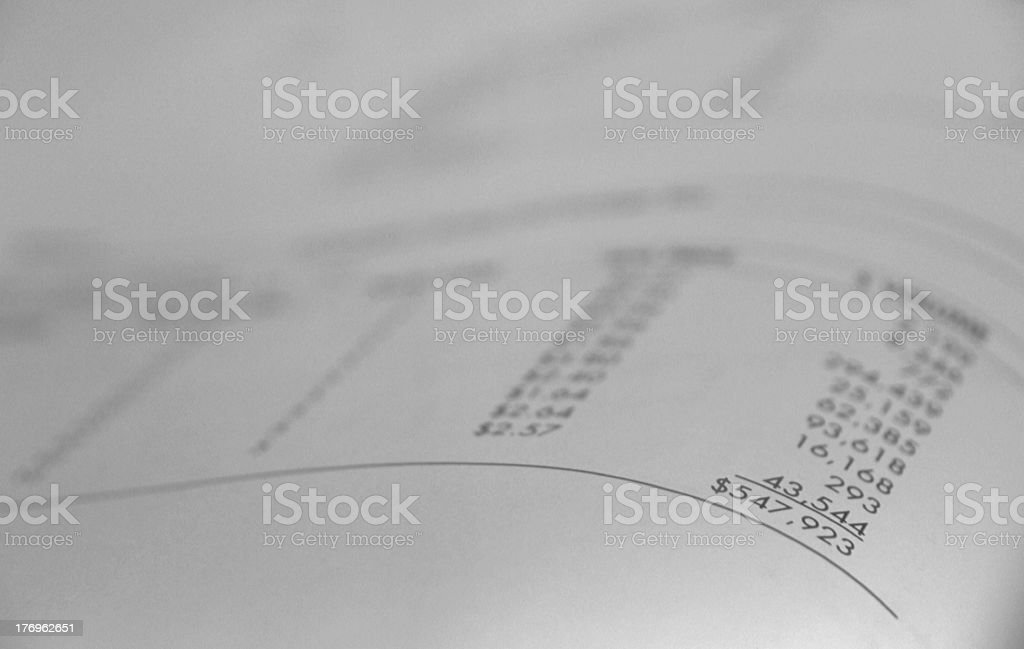 the bottom line royalty-free stock photo