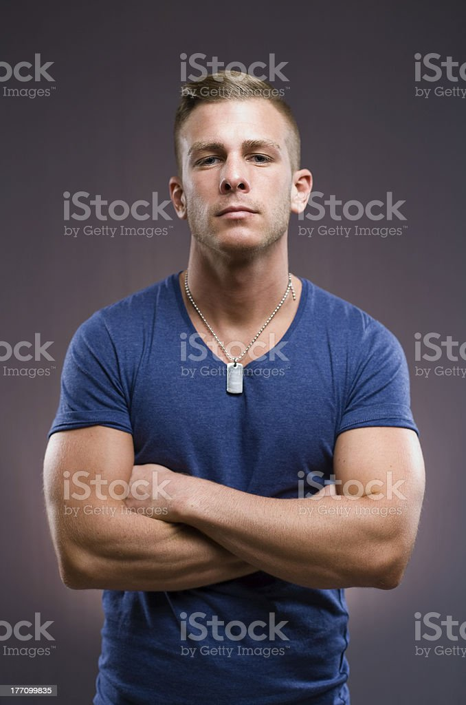 The bouncer. royalty-free stock photo