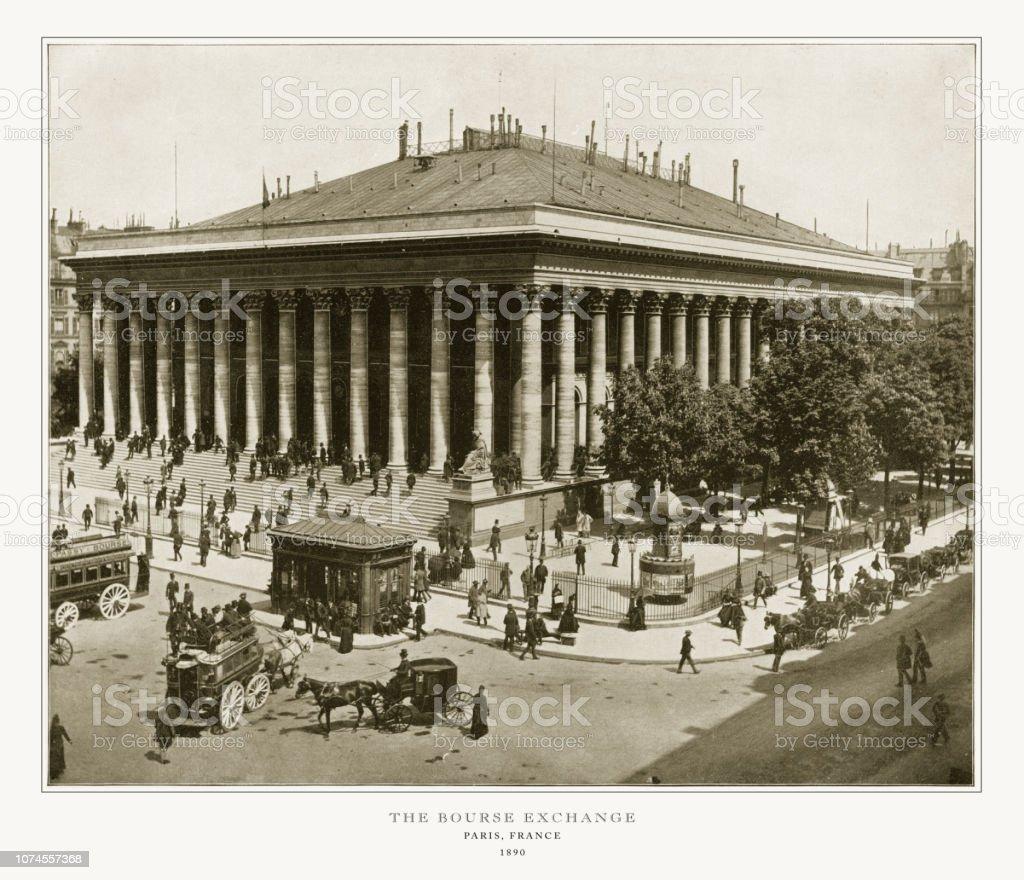 L'échange de la Bourse, photographie Antique Paris, 1893 - Photo