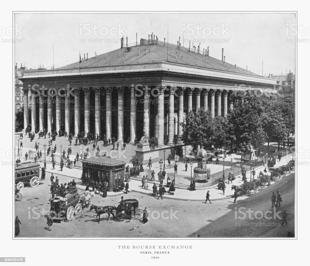 L'échange de la Bourse, photographie Antique Paris, 1893 - Photo
