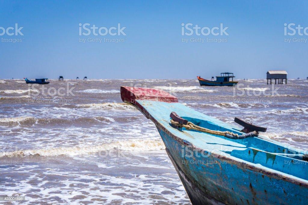 The bow fish ship stock photo