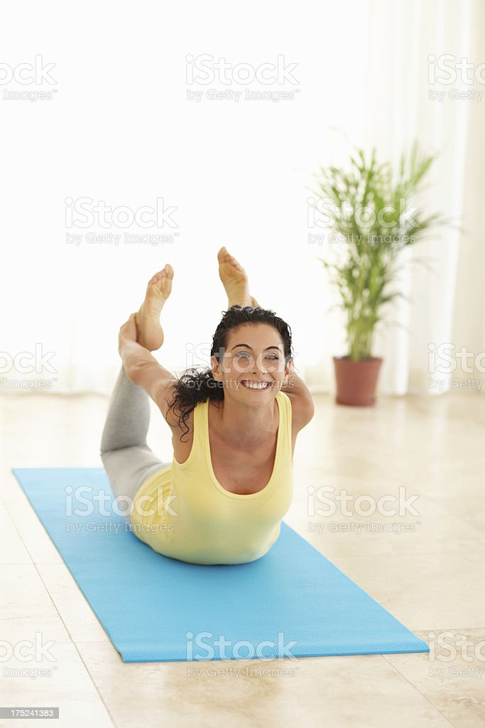 The bow pose royalty-free stock photo