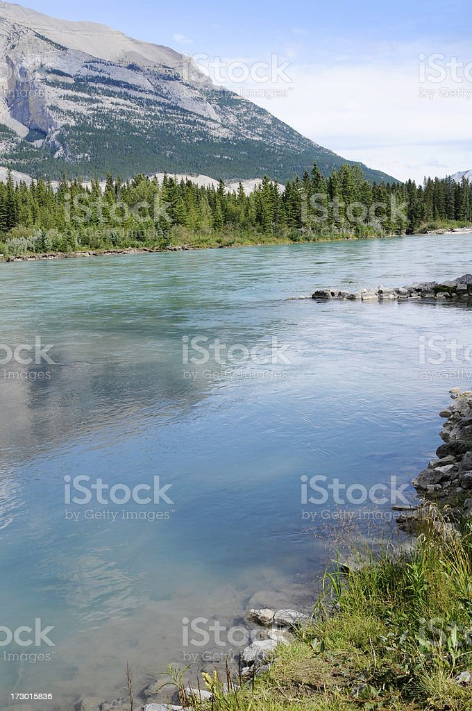 The Bow River: Summer Landscape royalty-free stock photo