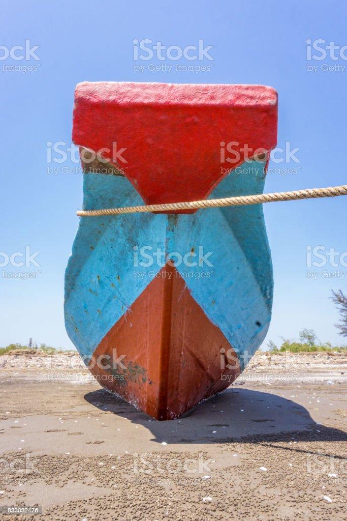 The bow wood ship stock photo