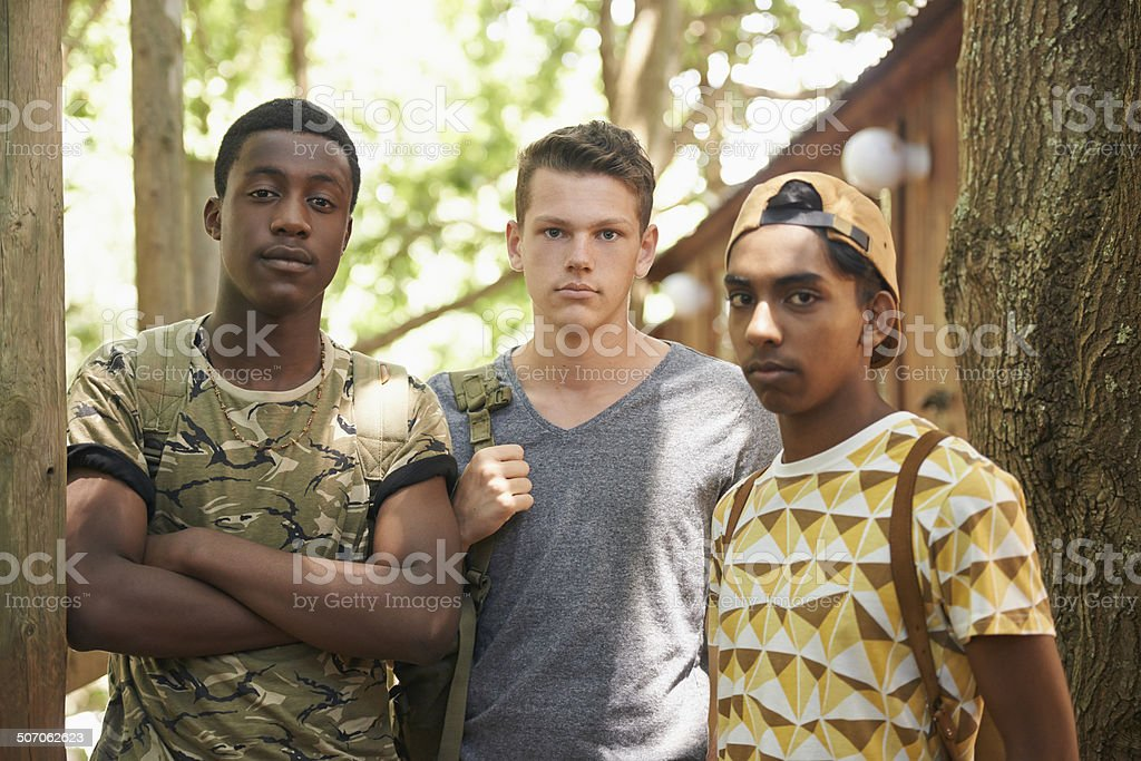 The boys are back stock photo