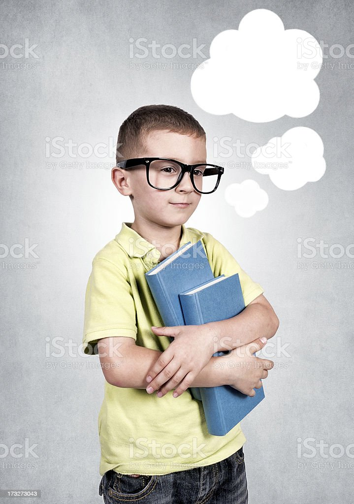 The boy's thoughts royalty-free stock photo