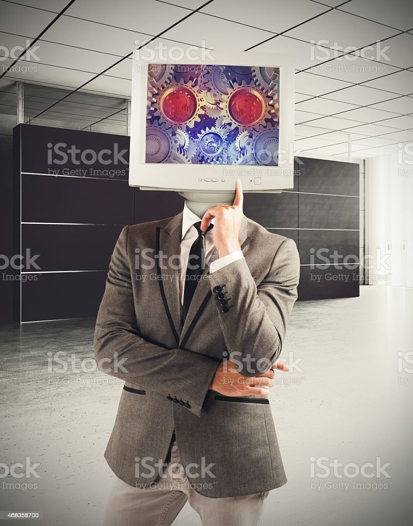 The brain as a machine royalty-free stock photo