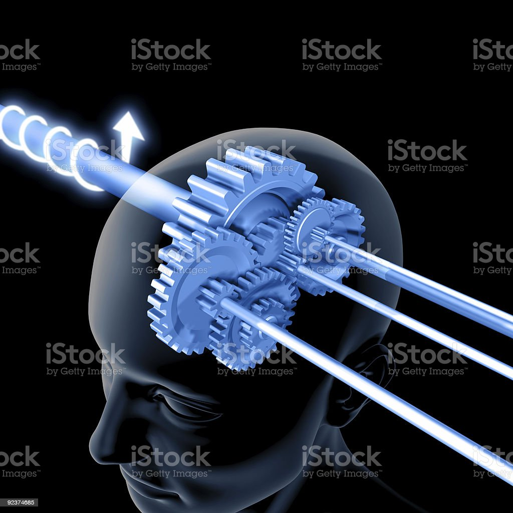 The Brain is Thinking (Gears) royalty-free stock photo