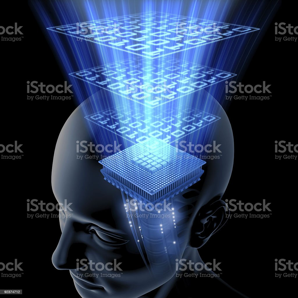 The Brain is Thinking (Processor) royalty-free stock photo