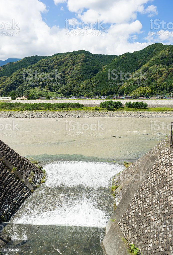 The branch which flows through Fujikawa river Lizenzfreies stock-foto