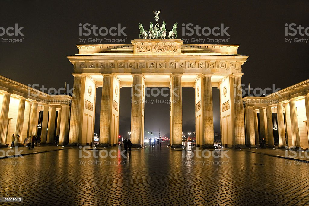 The Brandenburg gate, berlin. royalty-free stock photo