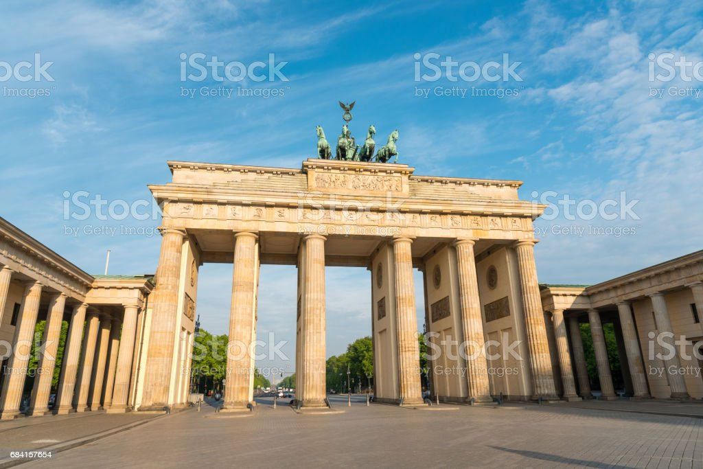 The Brandenburger Tor in Berlin royalty-free stock photo