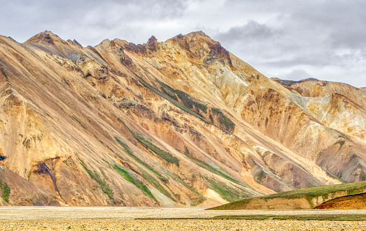 The breathtaking painted hills of Landmannalaugar in the beautiful and unique island nation of Iceland in Europe.