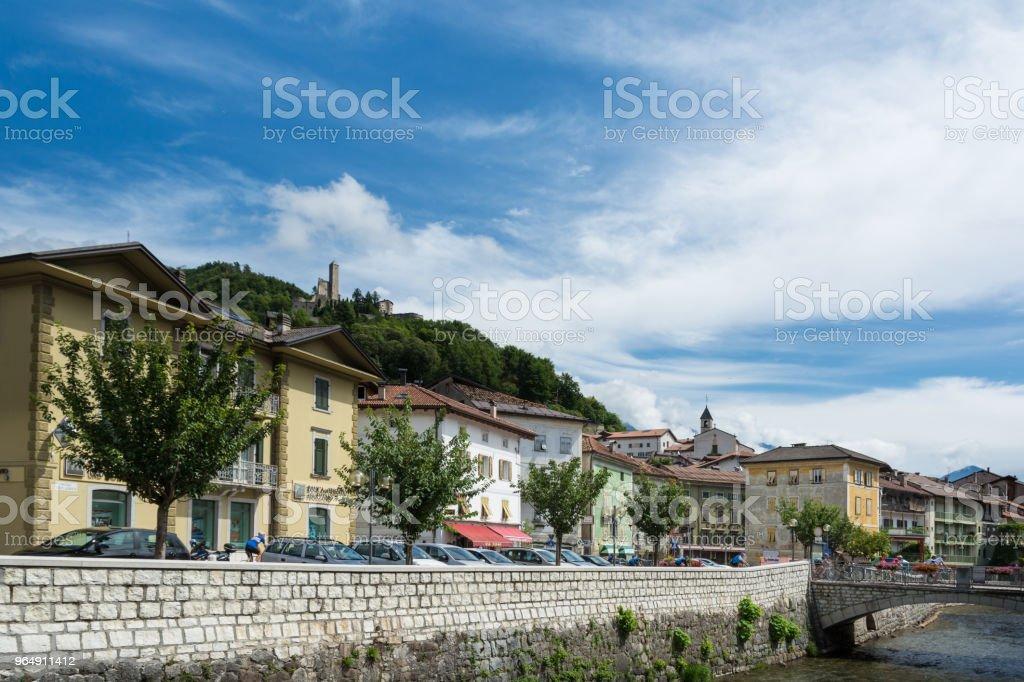 The Brenta river in Borgo Valsugana in Trentino-Alto Adige/Südtirol region , Italy royalty-free stock photo