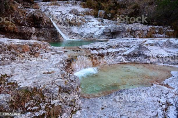 Photo of The Brenton Lakes in Valle del Mis, in Italy, Belluno Dolomites National Park