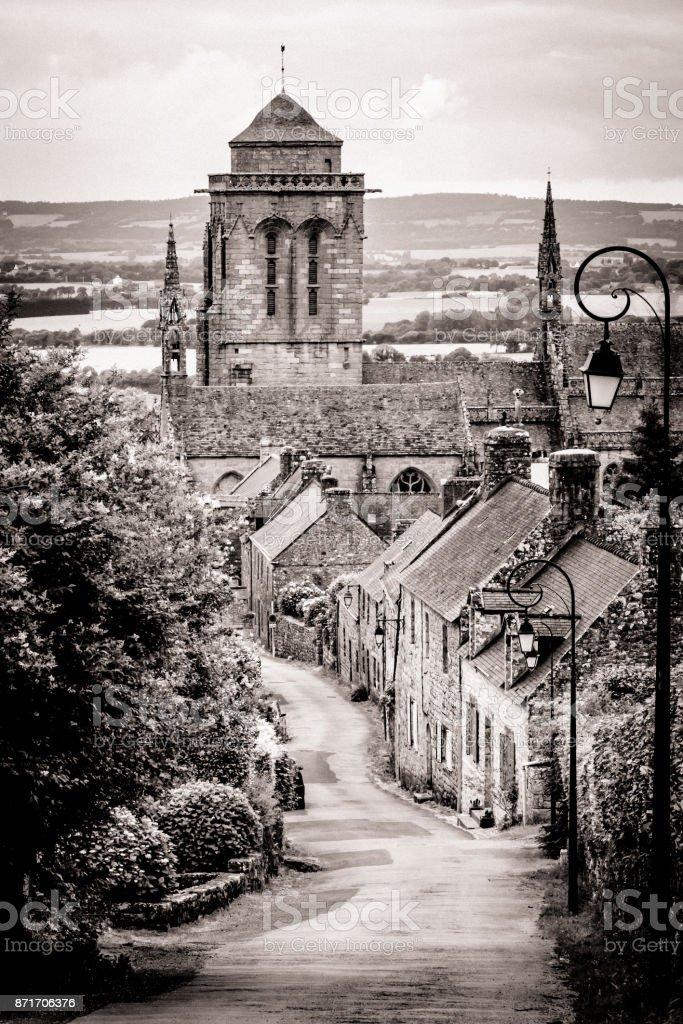 the Breton village of Locronan stock photo
