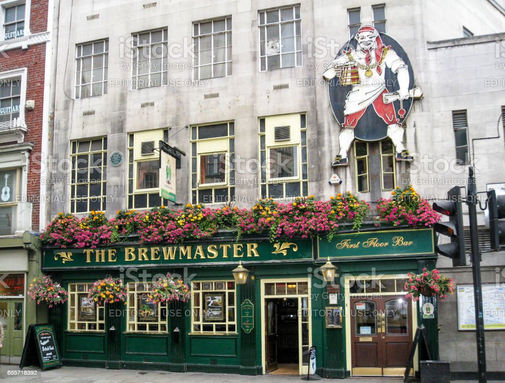 The Brewmaster Pub in London England stock photo