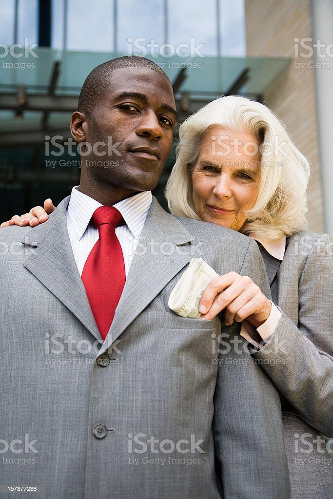the bribe royalty-free stock photo