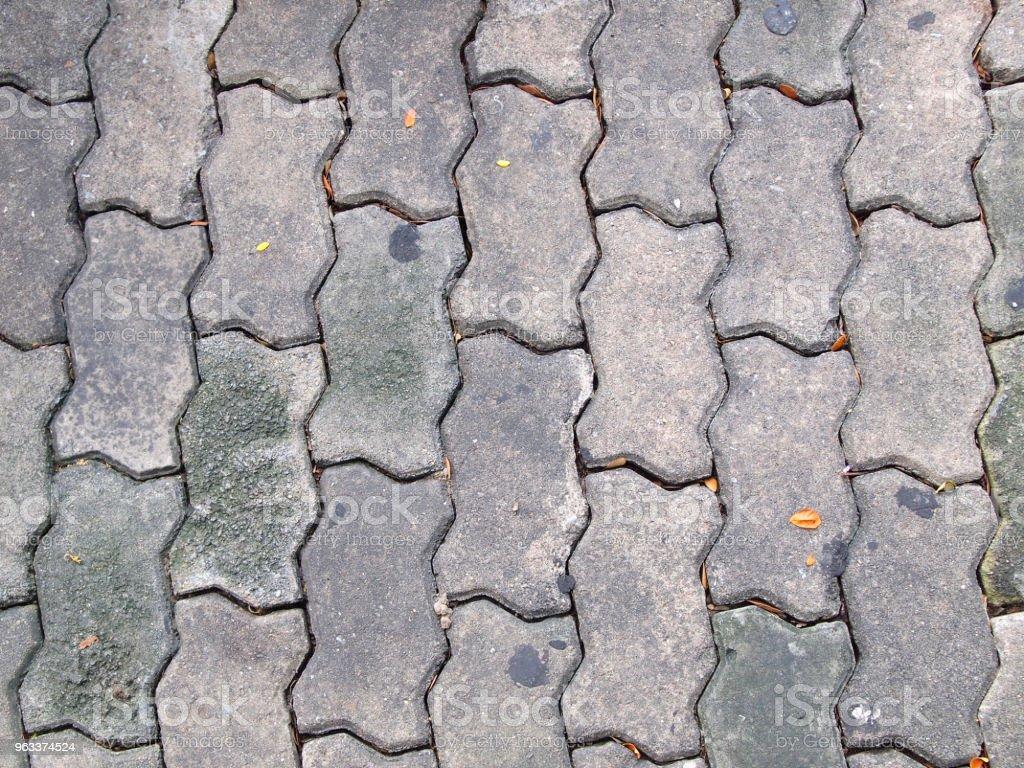 Den tegel gångvägen - Royaltyfri Abstrakt Bildbanksbilder