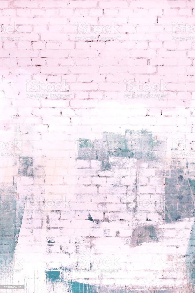Photo Libre De Droit De Le Mur De Brique Est Peint Dans Une