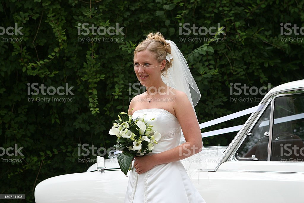 The Bride Arrives royalty-free stock photo
