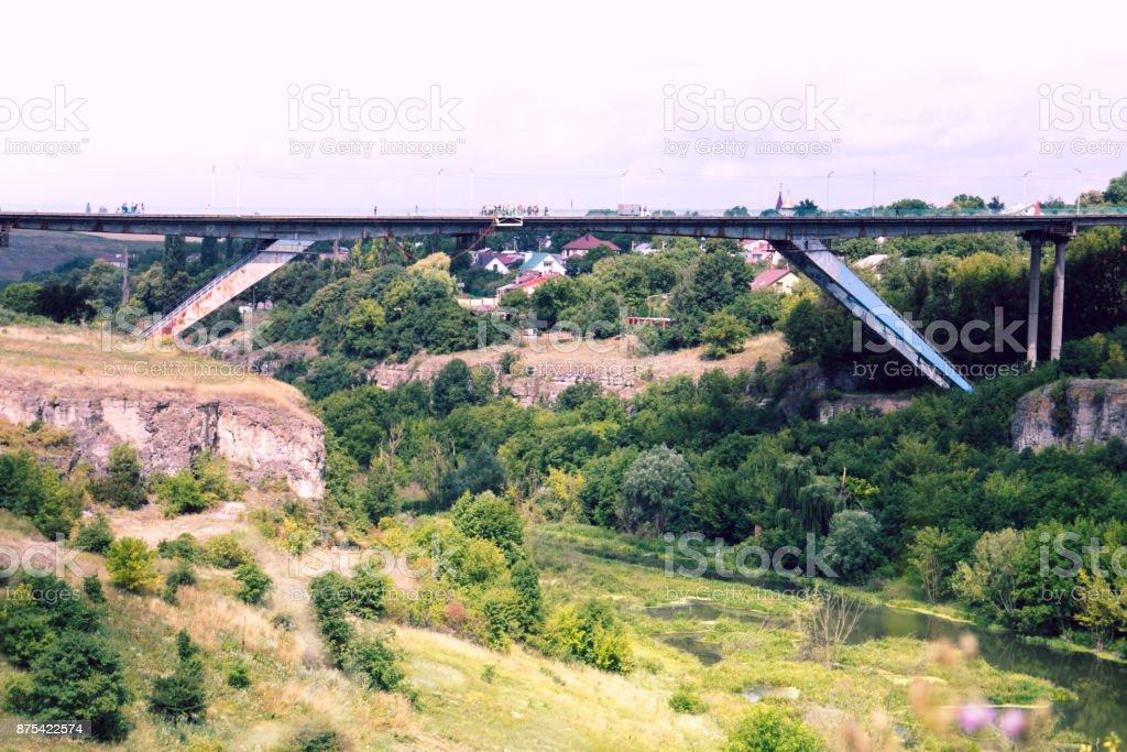 The bridge between Denmark and Sweden, Oresundsbron stock photo