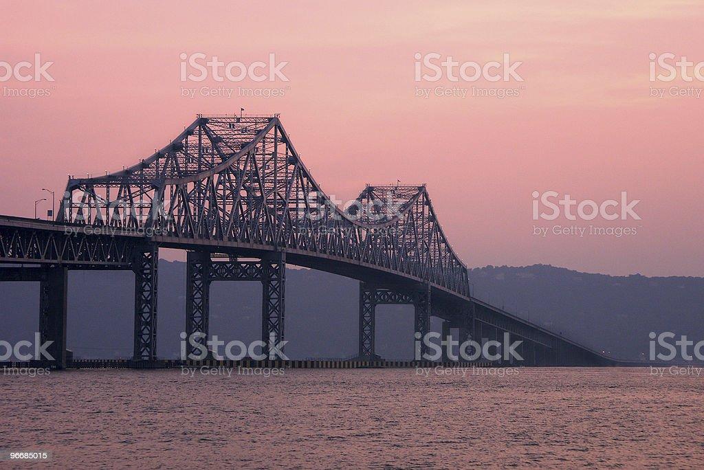 The bridge during sunset royalty-free stock photo