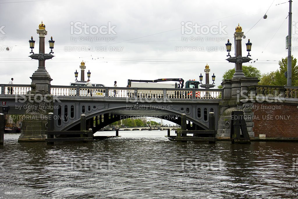 the bridge in amsterdam royalty-free stock photo