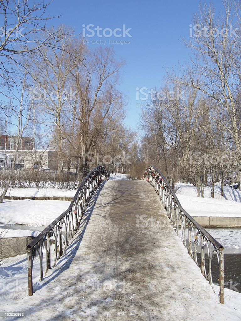 The bridge in park royalty-free stock photo