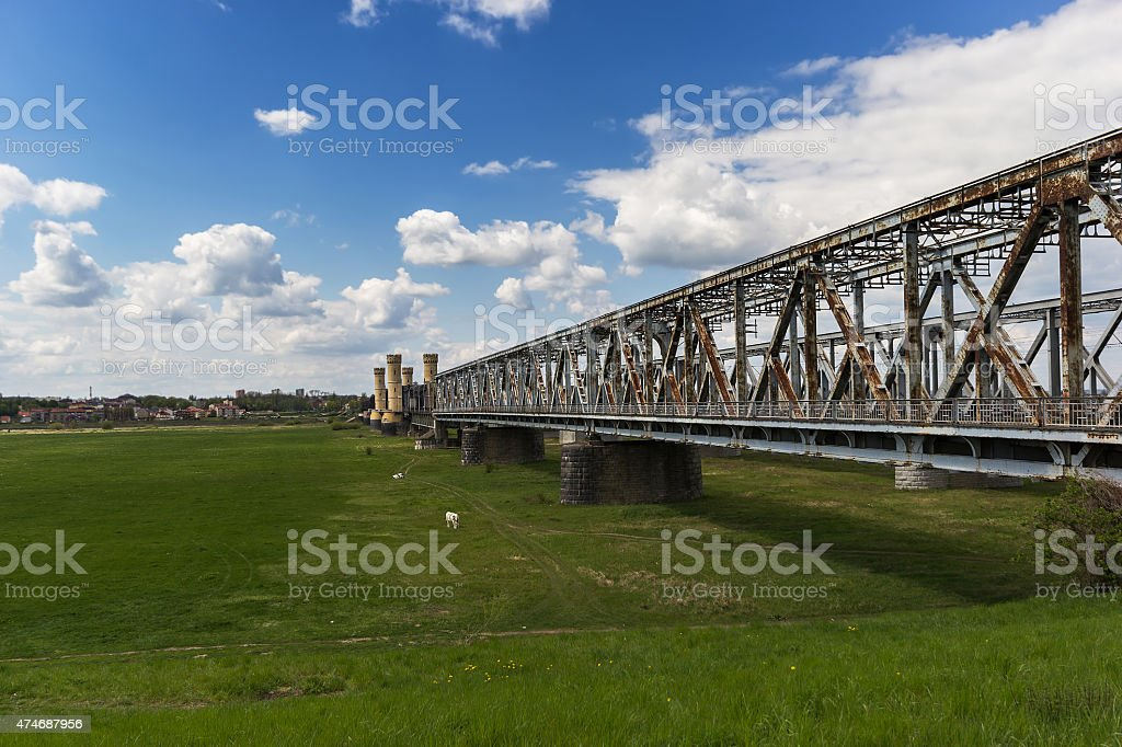 The bridge in Tczew stock photo