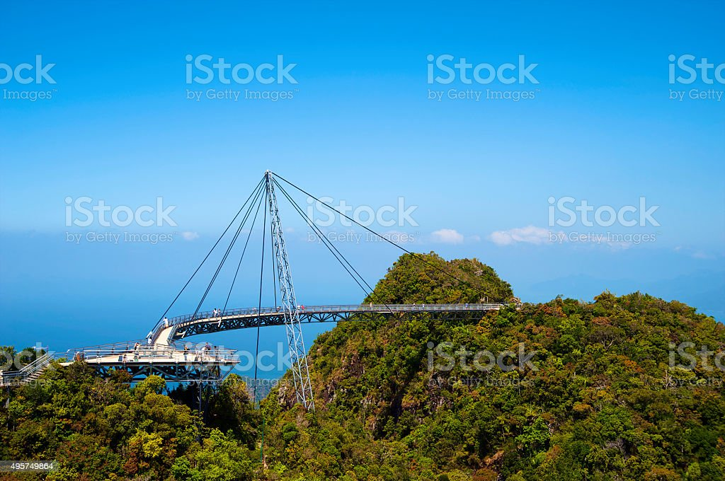 The bridge is a viewing platform stock photo