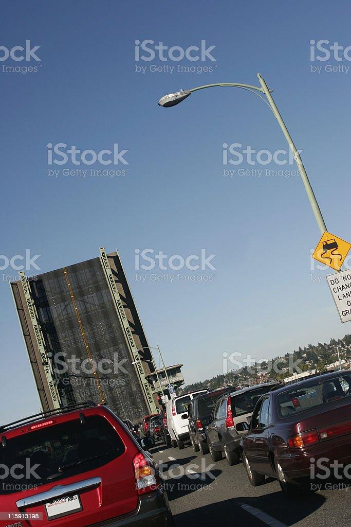 The Bridge is Up royalty-free stock photo