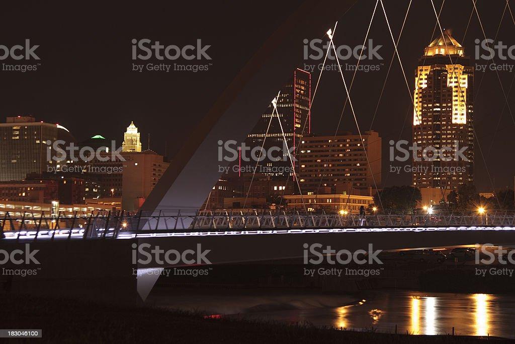 The Bridge of Des Moines royalty-free stock photo