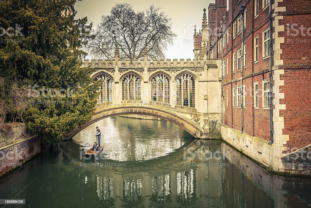 The Bridge of Sigh, Cambridge stock photo