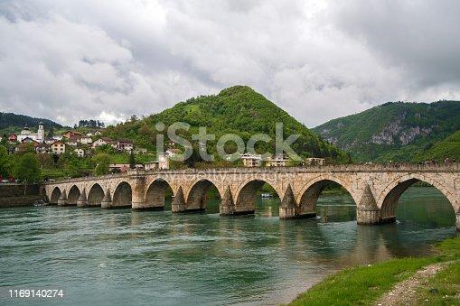 The Bridge on the river Drina in Visegrad is famous bridge fron Nobel prize viner novel ( Na Drini čuprija) by Ivo Andric.