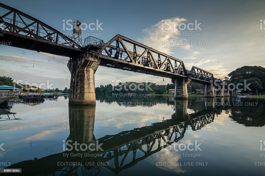 The Bridge on the River. stock photo