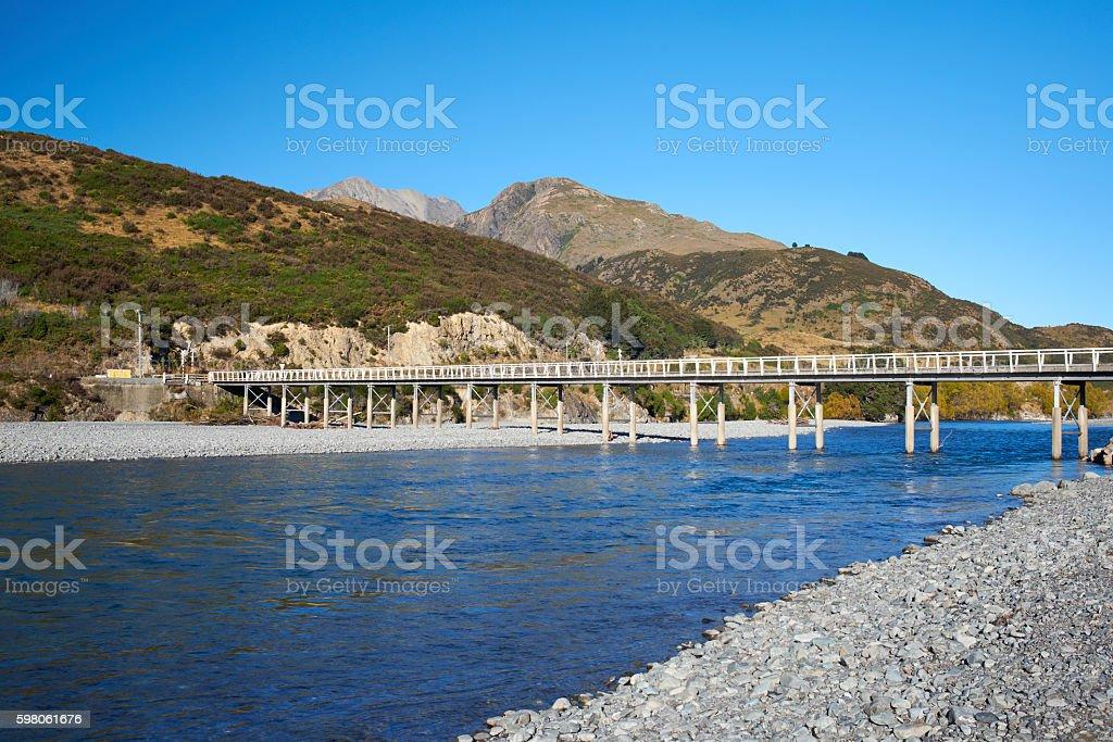 The Bridge On The Waimakariri River stock photo