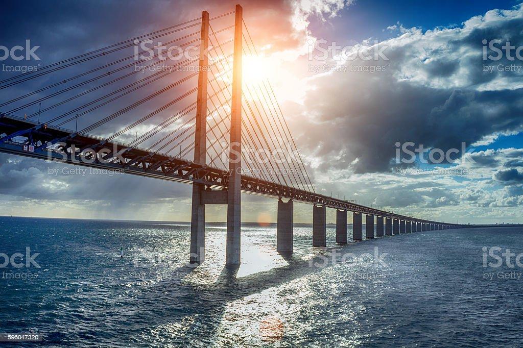 The bridge Oresundsbron stock photo