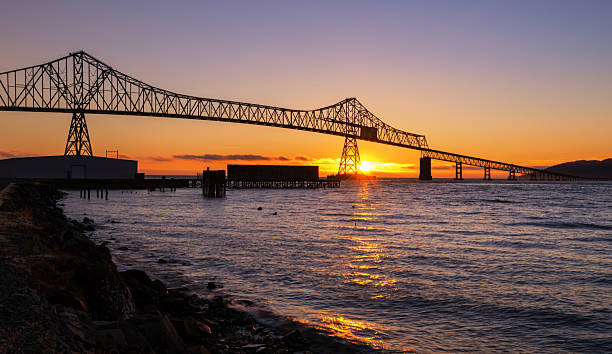The Bridge over Columbia River stock photo