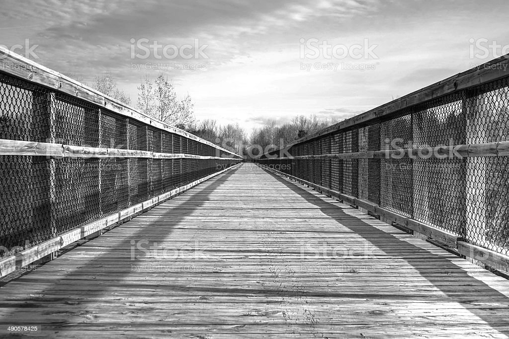 The Bridge To Nowhere stock photo