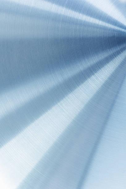 Lumineux surface en métal poli. - Photo
