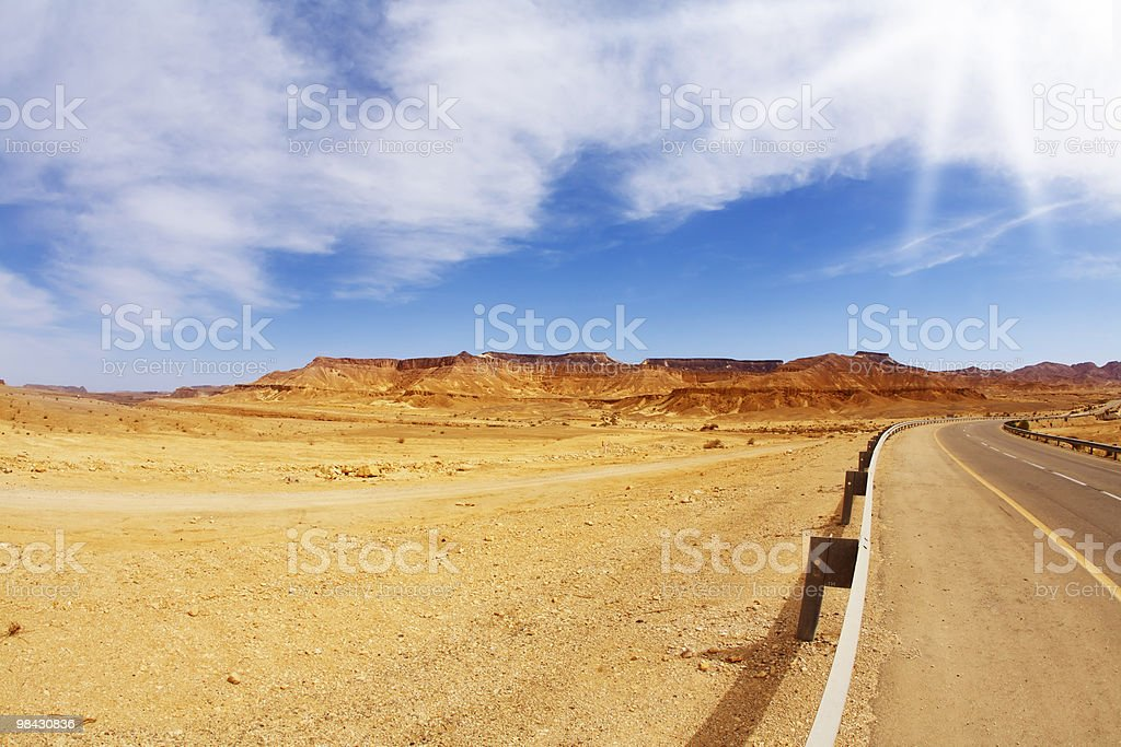 The bright sun shines empty highway royalty-free stock photo