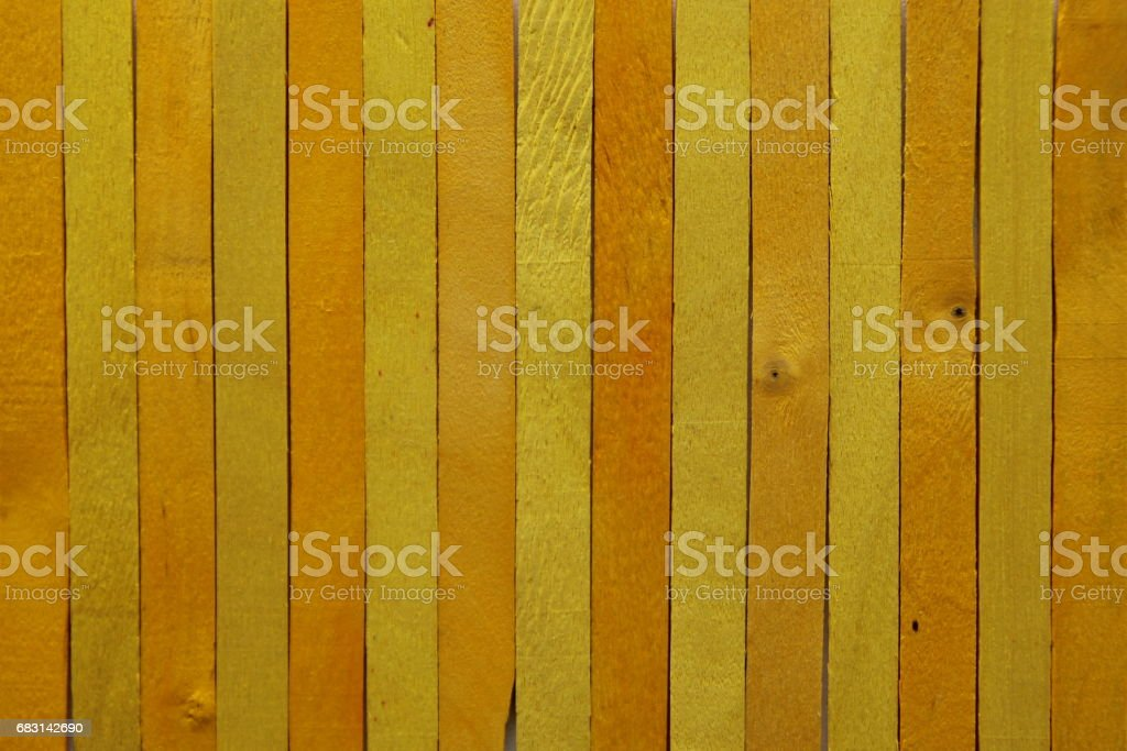 The bright yellow wooden background. Colorful background. royalty-free 스톡 사진