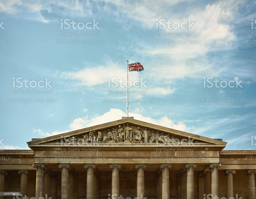 The British Museum In London stock photo