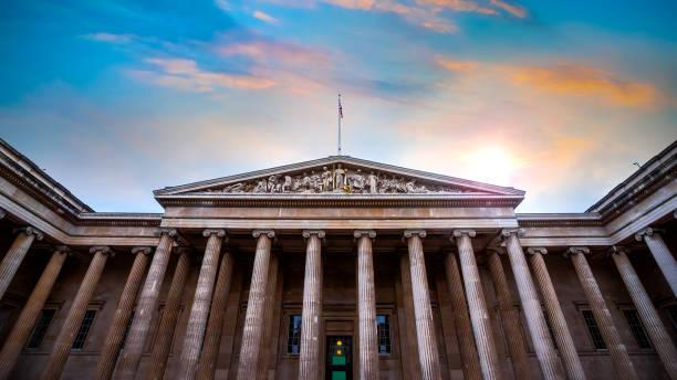 The British Museum in London, UK stock photo