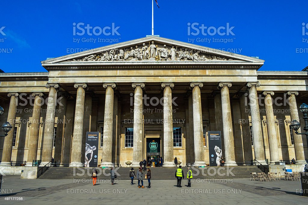 The British Museum in London, UK stock photo