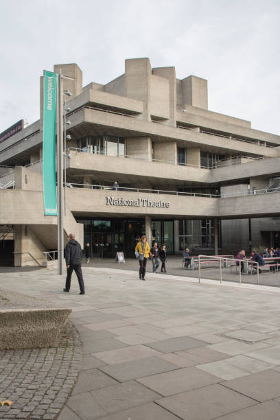 The British National Library in London stock photo