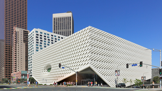 The Broad Grand Avenue Los Angeles Stock Photo - Download Image Now