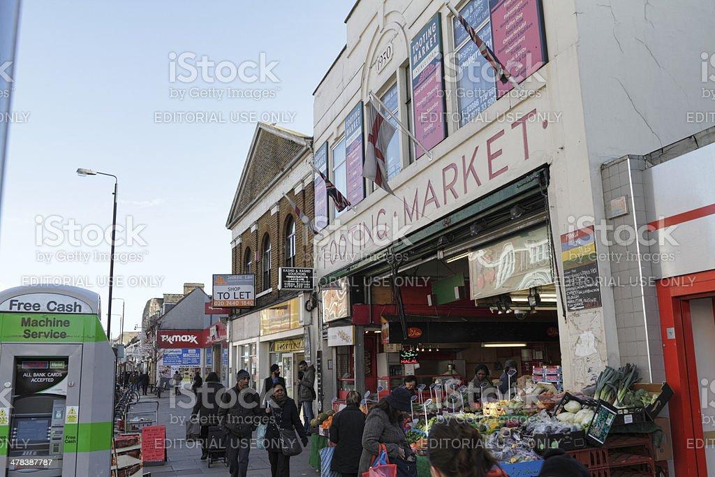 Tooting Broadway Market London SW17 exterior stock photo